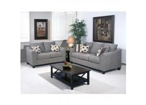 Serta-Hugh's Flyer Metal Sofa and Love seat set includes accent pillows